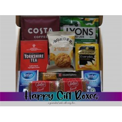Mixed Tea & Coffee Small Gift Box with Biscuits
